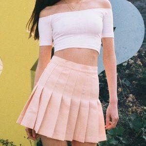 American Apparel Tennis Skirt in Peach